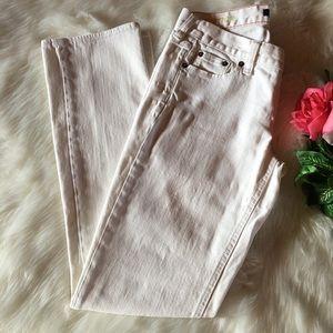 J. Crew Matchstick White Jeans